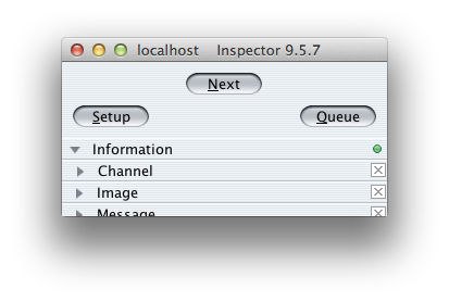 Inspector connection screenshot