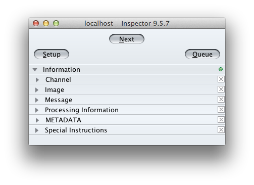 Main Inspector window